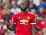 Romelu Lukaku looks unimpressed while playing for Manchester United in August 2017