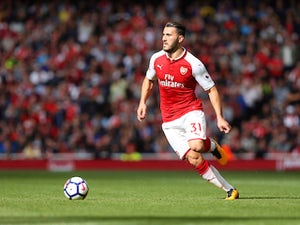 Arsenal wing-back Sead Kolasinac in action during his side's Premier League clash with Bournemouth on September 9, 2017