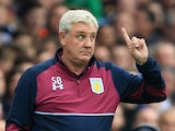 Aston Villa manager Steve 'Cheggars' Bruce gestures on the touchline during his side's Championship clash with Birmingham City on October 30, 2016