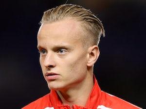 Florent Hadergjonaj for Switzerland Under-21s prior to a match against England Under-21s