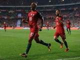 Joao Mario takes credit for the first goal during the World Cup qualifier between Portugal and Switzerland on October 10, 2017