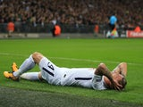 Toby Alderweireld goes down injured during the Champions League group game between Tottenham Hotspur and Real Madrid on November 1, 2017