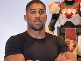 Anthony Joshua pictured at a computer game launch in August 2017