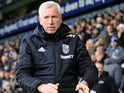 Alan Pardew in charge of West Bromwich Albion on December 17, 2017
