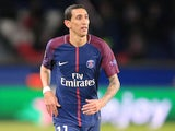 Angel Di Maria in action for Paris Saint-Germain in the Champions League on November 22, 2017