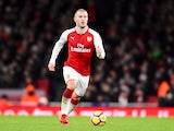 Jack Wilshere in the Premier League match between Arsenal and Newcastle United on December 16, 2017