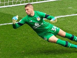 Sam Johnstone in action for Aston Villa in April 2017