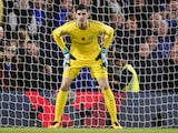 Thibaut Courtois in action for Chelsea on November 5, 2017