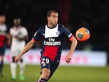 Lucas Moura in action for PSG in January 2014