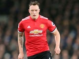 Phil Jones in action for Manchester United on January 1, 2018