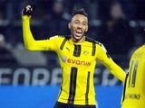 Pierre-Emerick Aubameyang in action for Borussia Dortmund in February 2017