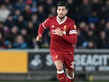 Emre Can in action during the Premier League game between Swansea City and Liverpool on January 22, 2018