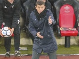 Hornets manager Javi Gracia gives orders during the FA Cup game between Southampton and Watford on January 27, 2018