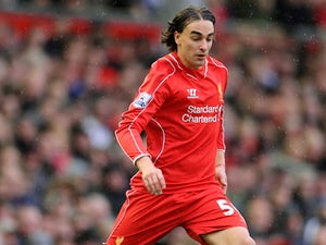 Lazar Markovic in action for Liverpool in March 2015