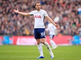 Harry Kane in action during the Premier League game between Tottenham Hotspur and Arsenal on February 10, 2018
