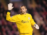Diego Cavalieri in action for Liverpool in December 2009