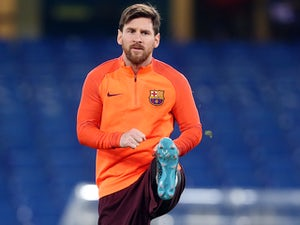 Lionel Messi in training for Barcelona on February 19, 2018
