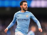 Bernardo Silva in action during the Premier League game between Manchester City and Chelsea on March 4, 2018
