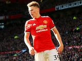 Scott McTominay in action for Manchester United on February 25, 2018