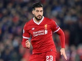 Emre Can in action during the Champions League round-of-16 game between Liverpool and Porto on March 6, 2018