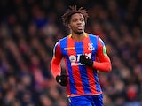 Wilfried Zaha in action for Crystal Palace in February 2018