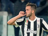 Juventus midfielder Miralem Pjanic in action during a Champions League match against Sporting Lisbon in September 2017