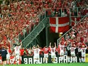 Denmark players celebrate reaching the quarter-finals at the 1998 World Cup