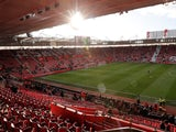 General view of Southampton's St Mary's Stadium taken February 2018