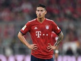 James Rodriguez in action for Bayern Munich on October 6, 2018