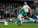 Corry Evans scores for Northern Ireland on November 18, 2018