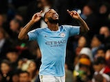 Raheem Sterling celebrates putting his side back ahead during the Premier League game between Manchester City and Bournemouth on December 1, 2018