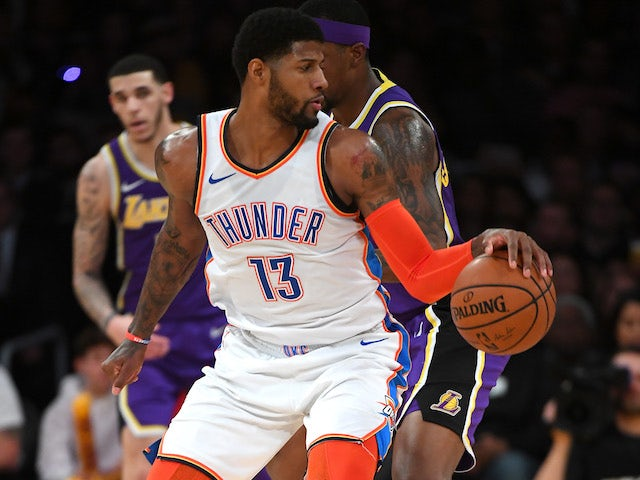 Result: George inspires Thunder to victory over Lakers