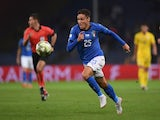 Federico Chiesa pictured playing for Italy in October 2018