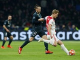 Ajax's Matthijs de Ligt in action with Real Madrid's Gareth Bale in the Champions League on February 13, 2019