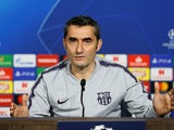Ernesto Valverde during a press conference on February 18, 2019