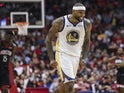 Golden State Warriors center DeMarcus Cousins (0) reacts after scoring during the fourth quarter against the Houston Rockets at Toyota Center on March 14, 2019