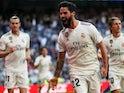 Isco celebrates scoring for Real Madrid against Celta Vigo in La Liga on March 16, 2019.