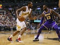 Toronto Raptors forward Kawhi Leonard (2) dribbles the ball against Los Angeles Lakers forward LeBron James (23) at Scotiabank Arena on March 15, 2019