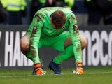Dejected Millwall keeper David Martin on March 17, 2019