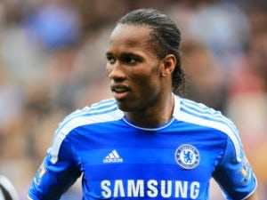 Drogba trains at Chelsea