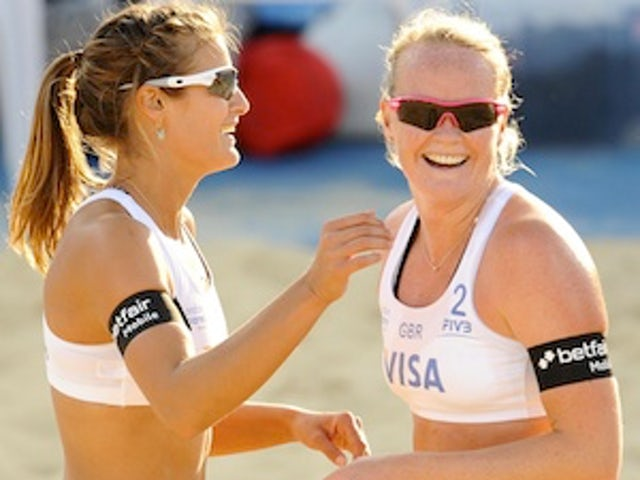 In Pictures: Women's Beach Volleyball International - Day 1