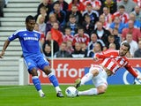 Rory Delap and Florent Malouda
