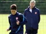 Samir Nasri and Arsene Wenger
