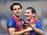 Cesc Fabregas, Lionel Messi