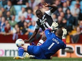 Demba Ba and Shay Given