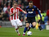 Dimitar Berbatov and Glenn Whelan