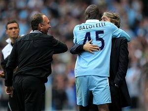 Mancini praises Balotelli's attitude