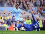 Phil Neville and David Silva