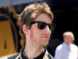 Grosjean sets fastest time
