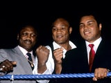 Joe Frazier, George Foreman and Muhammed Ali
